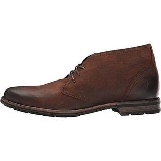 Frye Mens Oscar Leather Distressed Chukka Boots