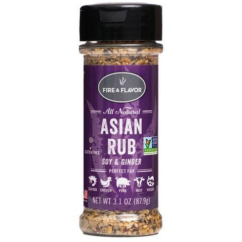 Fire & Flavor FFF153 All Natural Asian Rub, 3.1 Oz