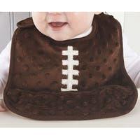 Brown Football Team Spirit Crumb Catcher Pocket Baby Toddler Bib