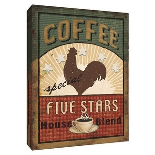 """PTM Images 9-154486  PTM Canvas Collection 10"""" x 8"""" - """"Coffee Blend Label III"""" Giclee Signs Art Print on Canvas"""