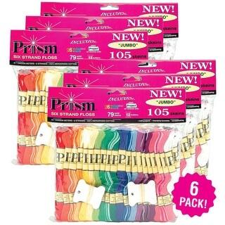 Dmc Prism 6-Strand Floss Jumbo Pack 8.7Yd 105Pc 6/Pk-