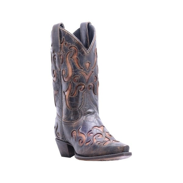 Dan Post Western Boots Womens Athena Snip Dark Brown