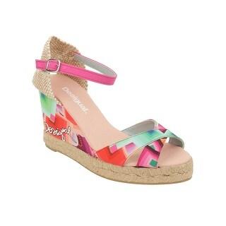 Desigual Cuna Alta Sandal Wedge in Fucsia Glamour