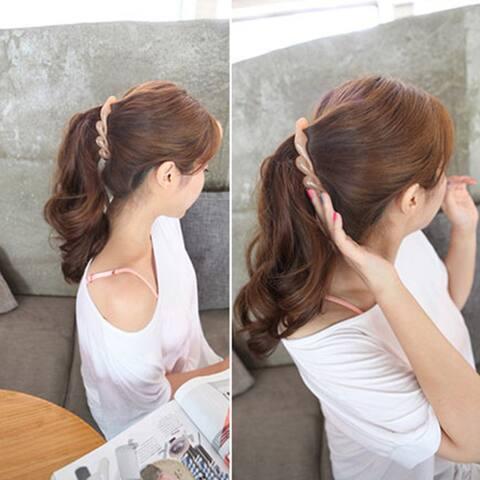 Fashion Banana Style Hair Clip Ponytail Girl Women Hairpin Headwear Accessories