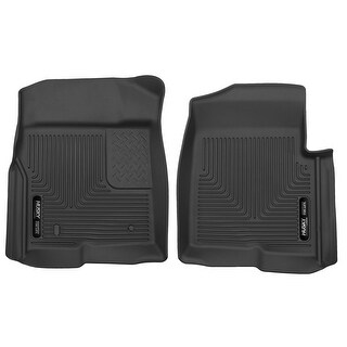 Husky X-act Contour 2009-2014 Ford F-150 SuperCrewCab NO Shifter Black Front Floor Mats/Liners