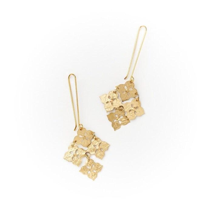 Amaele earrings Golden pendant earrings with black women/'s glitters