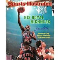 Signed Bernard King signed New York Knicks 16x20 Photo Sports Illustrated Cover May 7 1984 Bernard