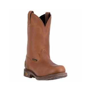 Dan Post Work Boots Mens Lawton Steel Toe Cowboy WP Brown DP69384