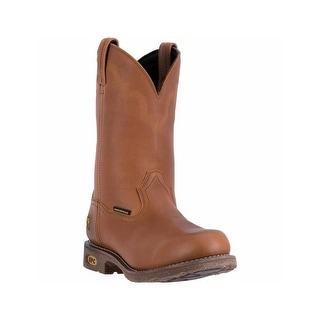 Dan Post Work Boots Mens Lawton Steel Toe Cowboy WP Brown DP69384