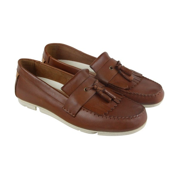 Clarks Trimocc Free Mens Tan Beige Leather Casual Dress Slip On Loafers Shoes