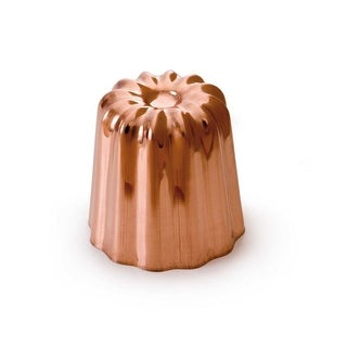 Mauviel M'passion Copper Tinned Canele Mold, 2""