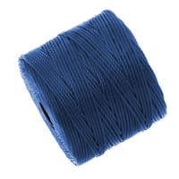 BeadSmith Super-Lon (S-Lon) Cord - Size 18 Twisted Nylon - Blue (77 Yard Spool)