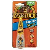 Gorilla Glue 7500102 Super Glue Brush and Nozzle, 10-Gram