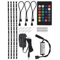 RGB Multi-color TV LED Backlight Kit, Wireless Remote Control, Waterproof, 4 Pcs
