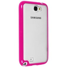 Sprint for Clear Hybrigel case for Samsung Galaxy Note II (Clear/ Pink)