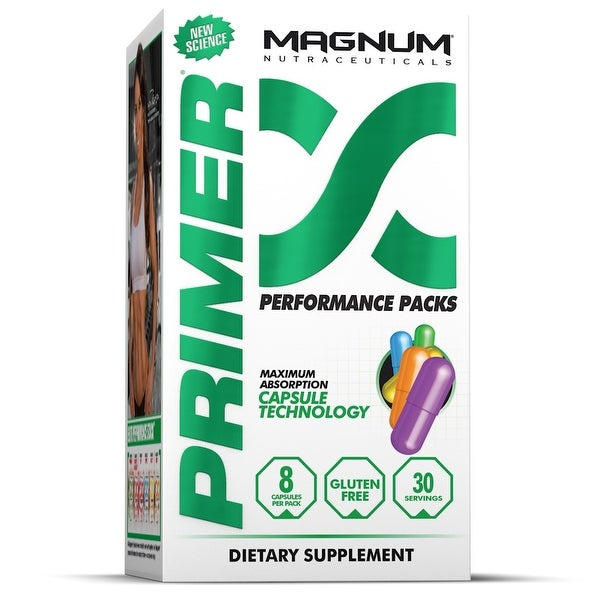 Magnum Nutraceuticals Primer - 30 Packs - Increase Muscle - Improve Recovery - Improve Workouts - Burn More Fat