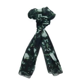 Ungaro UN7018 S7789 Tie Dye Print Green Silk Scarf
