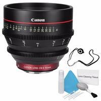 Canon CN-E 50mm T1.3 L F Cine Lens (International Model) + Deluxe Cleaning Kit + Lens Cap Keeper Bundle (AF6CANCNE5013LFB2)