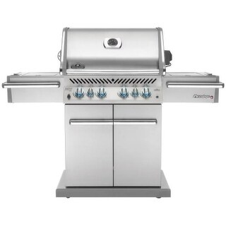Napoleon PRO500RSIBN-2 Prestige Pro 80000 BTU 67 Inch Wide Six Burner Natural Gas Free Standing Grill with Infrared Rear and