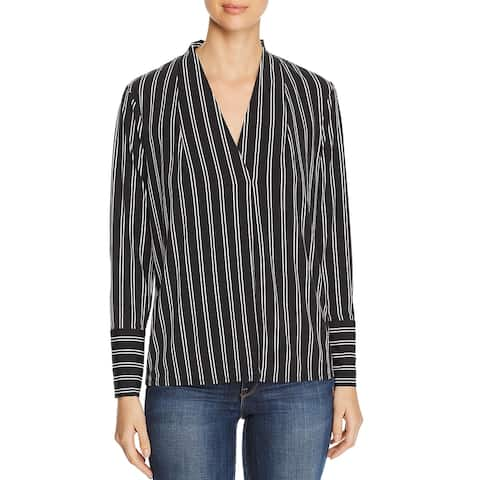 Kenneth Cole New York Womens Blouse Printed V-Neck