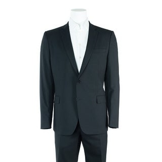 Versace Collection Black Wool Blend Two Button Suit - 46