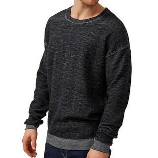 Selected Homme NEW Black Mens Size Medium M Heathered Crewneck Sweater