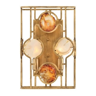 "Fredrick Ramond FR40142 Lucia 2 Light 13-1/2"" Tall Wall Sconce - ADA Compliant - Burnished Gold"