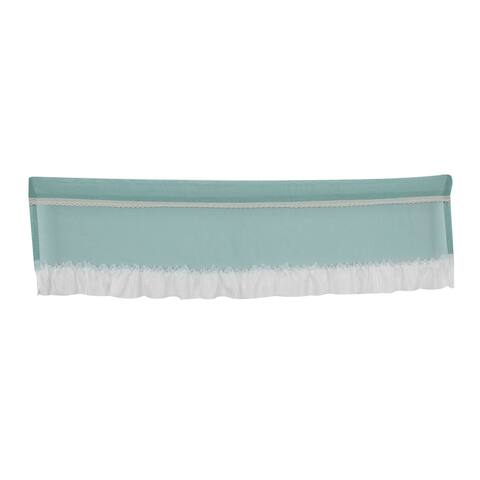 Polyester Drapery Curtain Door Window Valance Green White 61 Inch x 16.5 Inch