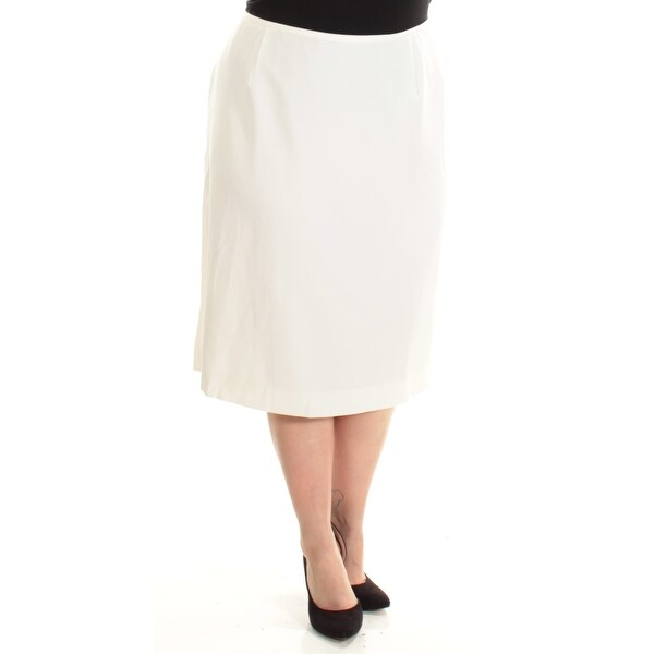 ae3b1a753 Shop TAHARI Womens Ivory Below The Knee Pencil Wear To Work Skirt Plus Size:  18W - Free Shipping On Orders Over $45 - Overstock - 22645282