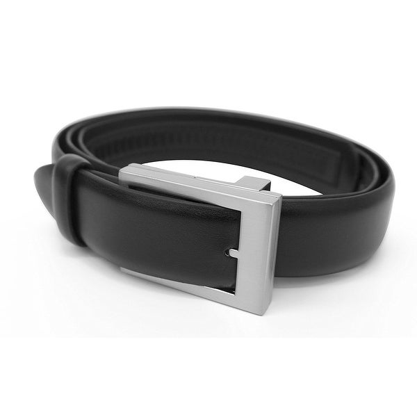 Emson Click It Belt - One Size Adjustable Leather Belt, As Seen on TV - Instant Comfort Fit, Black