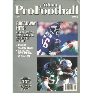 6405c3b82 Shop Lawrence Taylor unsigned New York Giants Athlon Sports 1992 NFL Pro  Football Preview Magazine - Free Shipping On Orders Over  45 - Overstock -  20686727