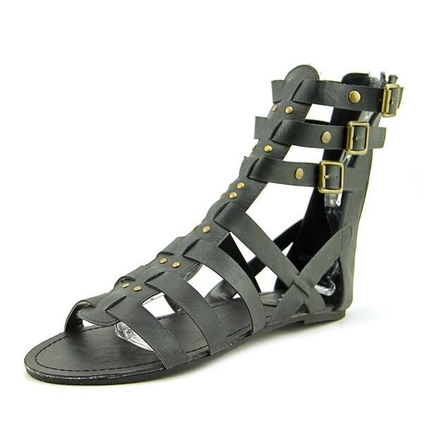 143 Girl Jordyn Women Open Toe Synthetic Black Gladiator Sandal