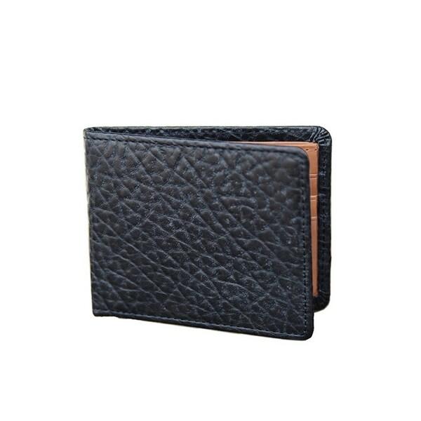 Vintage Bison Western Wallet Men Mesa Bifold Leather Black