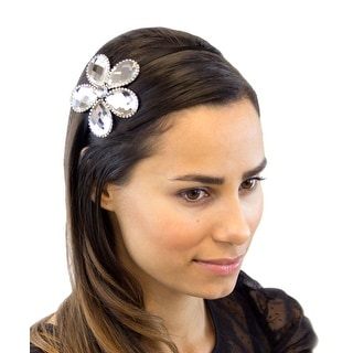Jazz Club Singer Rhinestone Flower Headband
