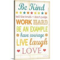 Jennifer Pugh Premium Thick-Wrap Canvas entitled Be Kind - Multi-color