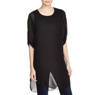 K&C Womens Tunic Top Chiffon Sheer