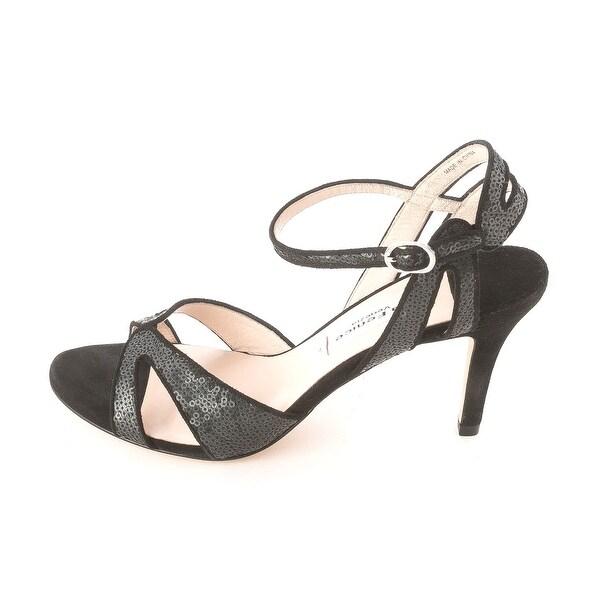 La Fenice Womens JEN Suede Open Toe Special Occasion Ankle Strap Sandals - 8.5