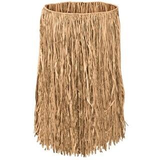 "Club Pack of 12 Tropical Tan Adult Raffia Extra Sized Hula Skirts 36"""