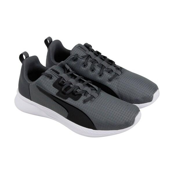82c8007fd Shop Puma Tishatsu Runner Mens Gray Textile Athletic Lace Up Running ...