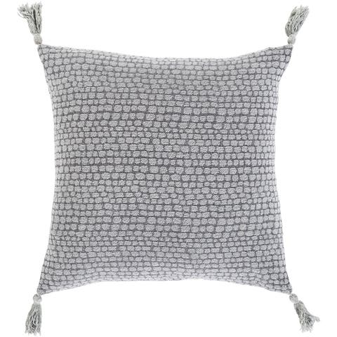 Mauro Jacquard Pebble Cotton Throw Pillow