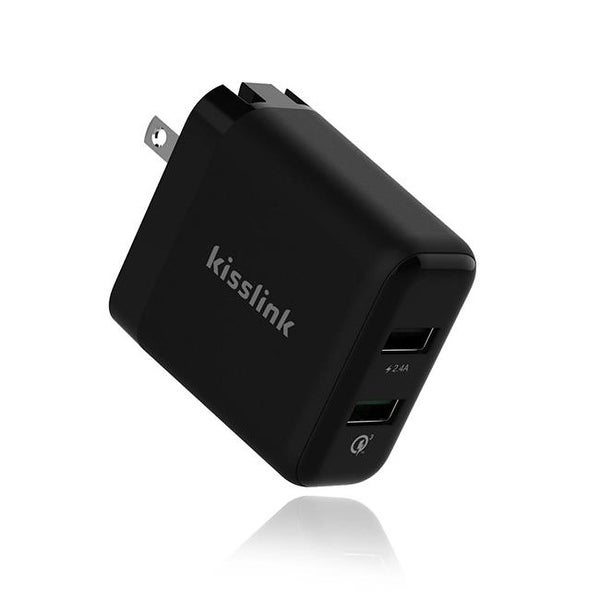 KeeWifi-Kisslink KW3210 Quick Charher 3.0 USB Wall Charger, 2 Port
