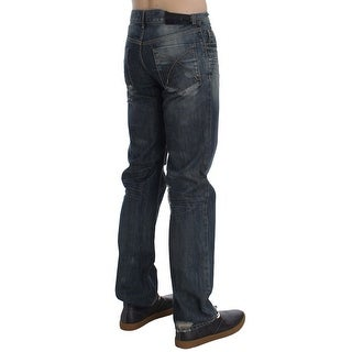EXTE EXTE Blue Wash Cotton Regular Fit Jeans