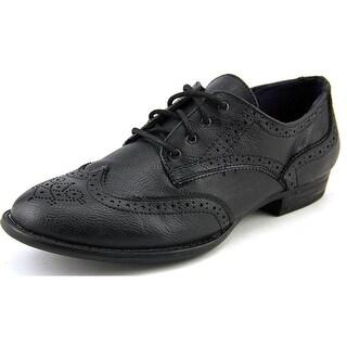 Dr. Scholl's Zen Women Wingtip Toe Leather Black Oxford