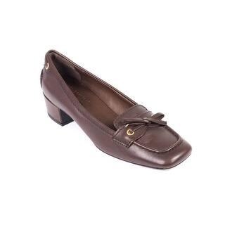 Prada Car Shoe Womens Brown Leather BowTie Square Toe Pumps|https://ak1.ostkcdn.com/images/products/is/images/direct/491a766e8793a62c75a674146c947874cc2159ba/Prada-Car-Shoe-Womens-Brown-Leather-BowTie-Square-Toe-Pumps.jpg?impolicy=medium