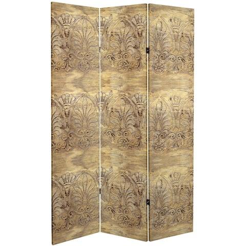 6 ft. Tall Baroque Flourish Canvas Room Divider