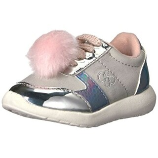 Jessica Simpson Girls Darby Low Top Lace Up Fashion, Silver, Size 7 toddler - 7 toddler
