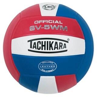 Tachikara SV5WM Leather Volleyball (Scarlet Red/White/Royal Blue)