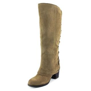 Fergalicious Truffle Round Toe Synthetic Knee High Boot