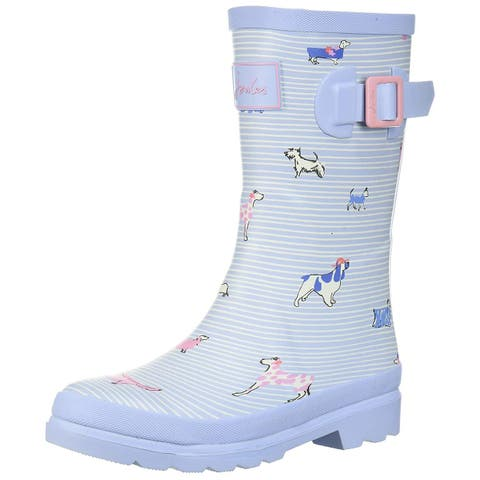 Kids Joules Girls Welly Rubber Mid-Calf Pull On Rain Boots