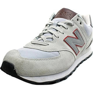 New Balance ML574 Men  Round Toe Suede Ivory Sneakers